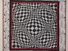 Thumbs Op-art-schwarz-weiss in Wandbehänge und Decken